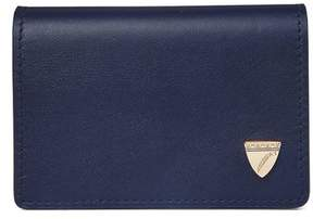 Aspinal of London Accordion Credit Card Holder In Smooth Blue Moon