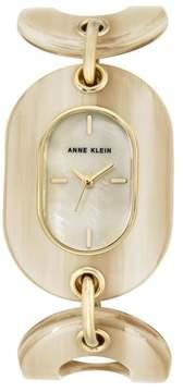 Anne Klein Mother-of-Pearl Dial Resin Link Bracelet Watch