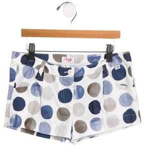 Il Gufo Girls' Polka Dot Mini Shorts w/ Tags