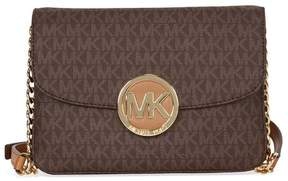 Michael Kors Flap Gusset PVC Crossbody - Brown - BEIGE - STYLE