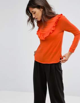 B.young Ruffle Front Top