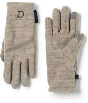 Lands' End Lands'end Women's Midweight Melange Fleece EZ Touch Gloves