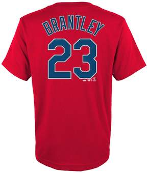 Majestic Boys 4-18 Cleveland Indians Michael Brantley Name & Number Tee