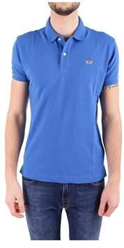 La Martina Men's Blue Cotton Polo Shirt.