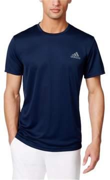 adidas Mens Essential Tech Basic T-Shirt Blue LT - Big & Tall
