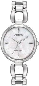 Citizen L EM0420-54D Silver Analog Eco-Drive Women's Watch