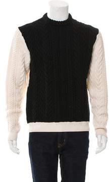 J.W.Anderson Cable Knit Colorblock Sweater