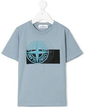 Stone Island Junior layered logo print T-shirt
