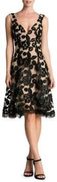 Dress the Population Maya V-Neck Lace Fit-&-Flare Dress