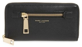 Marc Jacobs Women's Vertical Zippy Wallet - Black - BLACK - STYLE