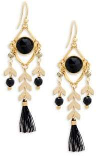 Chan Luu Gemstone and Sterling Silver Tassel Drop Earrings