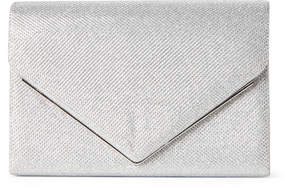 La Regale Silver Metar Bar Shimmer Clutch