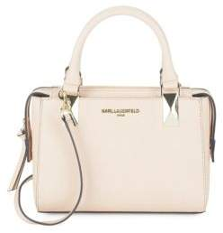 Karl Lagerfeld Mini Saffiano Leather Satchel