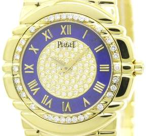 Piaget Tanagra 17043 M401D 18K Yellow Gold & Diamond Quartz 33mm Mens Watch