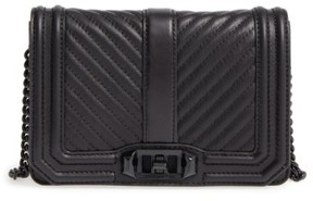 Rebecca Minkoff Small Love Leather Crossbody Bag - Black