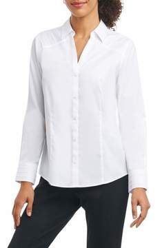 Foxcroft Women's Rita In Solid Stretch Button Down Shirt