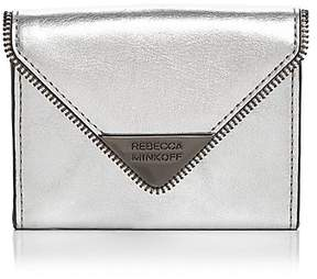 Rebecca Minkoff Molly Metro Leather Card Case - LIGHT GOLD/GUNMETAL - STYLE