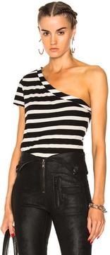 RtA Anais Top in Black,Stripes.