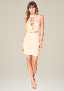 Bebe Embellished Cage Dress