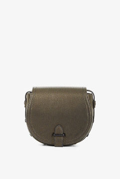 BCBGeneration Crackled Faux-Leather Saddle Bag