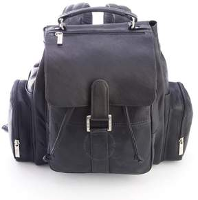Royce Leather Royce Black Colombian Leather Expandable Backpack