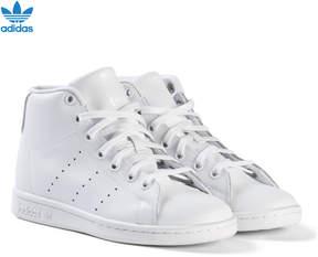 adidas White Junior Stan Smith Hi Top Trainers