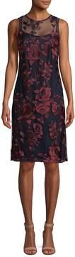 Donna Ricco Women's Floral Lace Sheath Dress