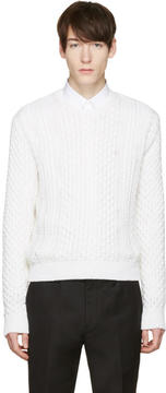 Calvin Klein Collection White Peder Sweater