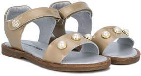 Stuart Weitzman pearl studded sandals