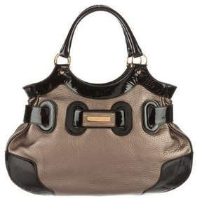 Barbara Bui Patent Leather-Trimmed Tote
