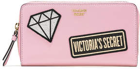 Victoria's Secret Victorias Secret Patch Zip Wallet