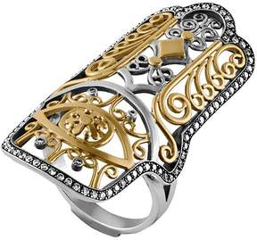 Azza Fahmy Hand of Fatima Diamond Ring