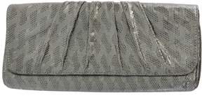 Lauren Merkin Dark Silver Metallic Coated Clutch