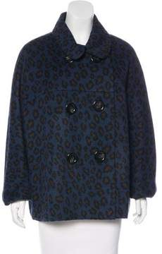 Bill Blass Double-Breasted Leopard Print Jacket