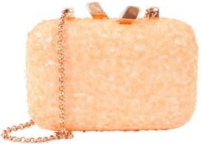 Kotur Orange Synthetic Clutch Bag