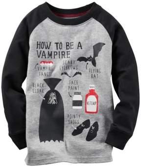 Carter's Boys Halloween Vampire Graphic T-Shirt Grey 5 - Little Kids (4-7)