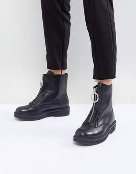 MANGO Zip Front Ankle Boot