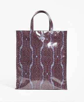 Brooks Brothers Scroll-Print Coated Canvas Tote