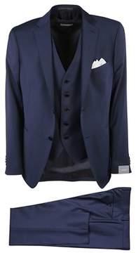 Cantarelli Men's 9064225824981100 Blue Wool Suit.