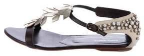 Alberta Ferretti Metallic Embellished Sandals