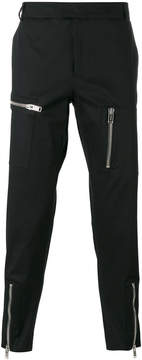 Les Hommes multiple zips cropped trousers