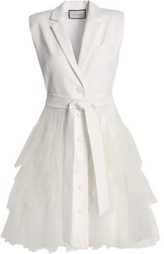 Alexis Tiered Tulle-Paneled Cotton-Blend Mini Dress