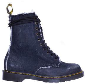 Off-White Dr Martens Cotton Denim Boots