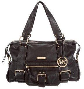 MICHAEL Michael Kors Leather Shoulder Bag - BLACK - STYLE