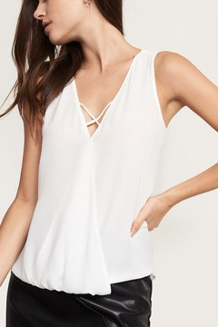 Dynamite Sleeveless Wrap Top With Cross Front