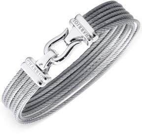 Charriol Women's Silver-Tone Cable Bangle Bracelet