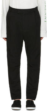 Robert Geller Black Cotton Trousers