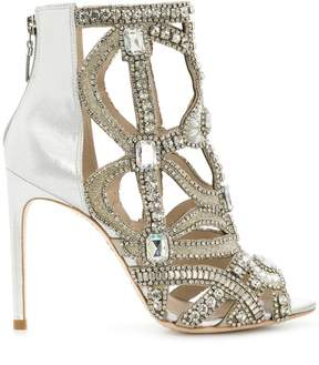 Sophia Webster rhinestone embellished open toe sandals