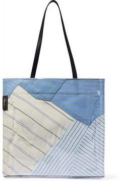 3.1 Phillip Lim Leather-Trimmed Striped Pvc Tote