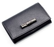 Longchamp Women's Black Leather Roseau Coin Purse. - BLACK - STYLE